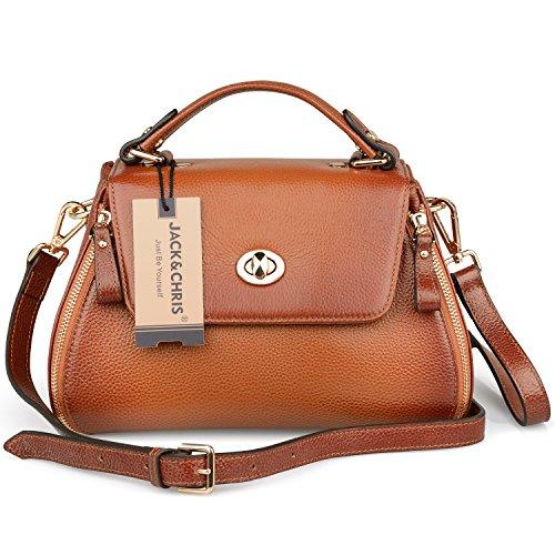 Jack&Chris® Vintage Lady Leather Handbags Crossbody Top-handle Shoulder Bag, WBDZ057