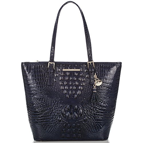 Brahmin Asher Ink Melbourne Leather Shoulder Tote Bag