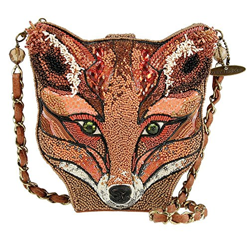 Mary Frances Sly Fox Orange Foxy Brown Handbag New