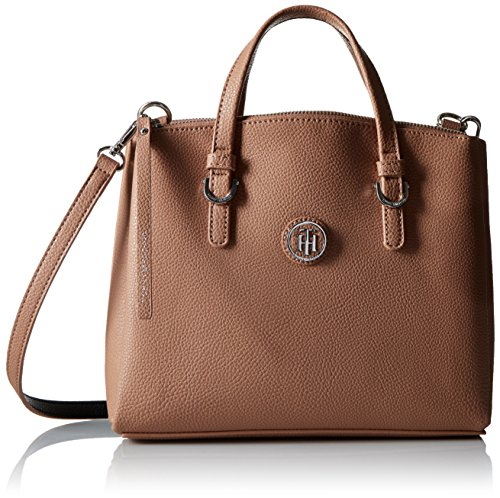 Tommy Hilfiger Mara Convertible Shopper Satchel Bag, Sand/Black, One Size