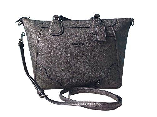 Coach Mickie Gunmetal Satchel Crossbody Bag 34143