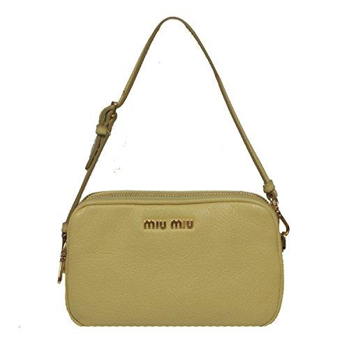 Miu Miu by Prada Madras Limone Cellulare Light Yellow Leather Wristlet Bag 5ARH02