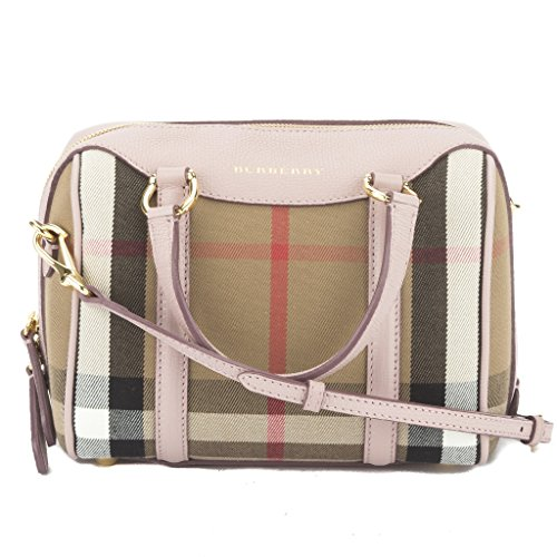 Burberry pale orchid house check bowling alchester Crossbody Bag New