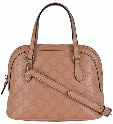 Gucci Women's Beige GG Leather Convertible Crossbody Mini Dome Purse
