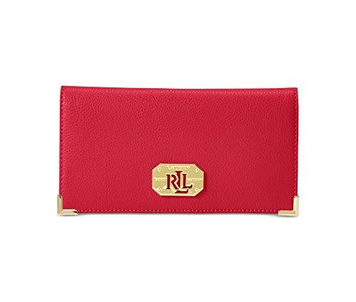 Lauren Ralph Lauren Womens Acadia Slim Wallet (Red)