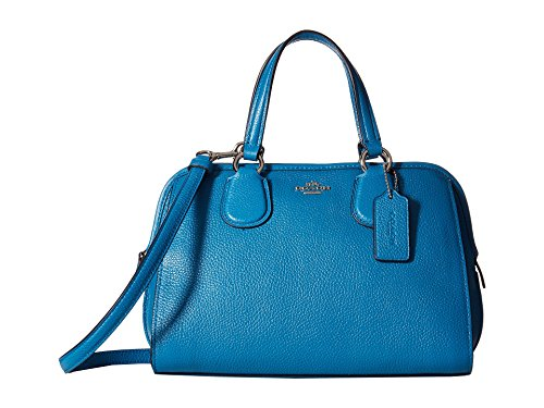 Coach Pebble Leather Mini Nolita Satchel – Peacock