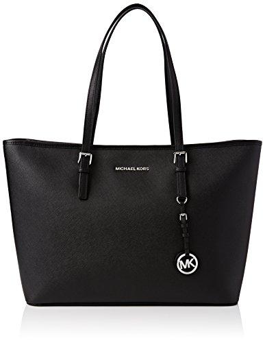 MICHAEL Michael Kors Jet Set Top-Zip Large Travel Tote Bag Black One Size