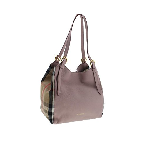 Burberry Womens Canterbury Calf Leather House Check Shoulder Handbag