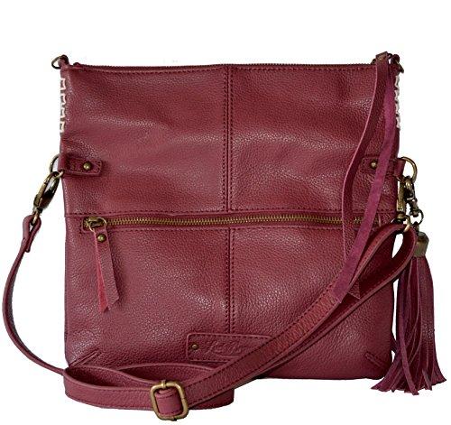 Lucky Brand Del Rey Leather Crossbody Bag Tote Handbag Purse Cross Body Womens