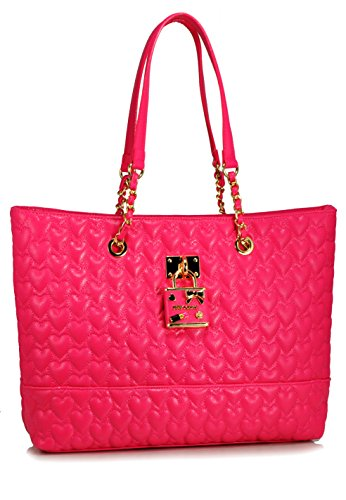Betsey Johnson Be My Baby Tote Shoulder Bag, Fushia