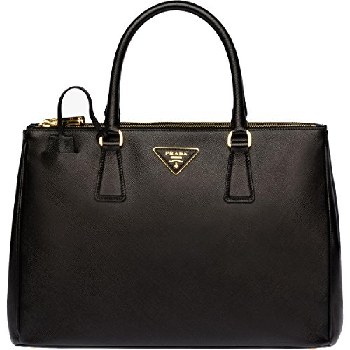 Prada Womens Galleria Leather Convertible Tote Handbag