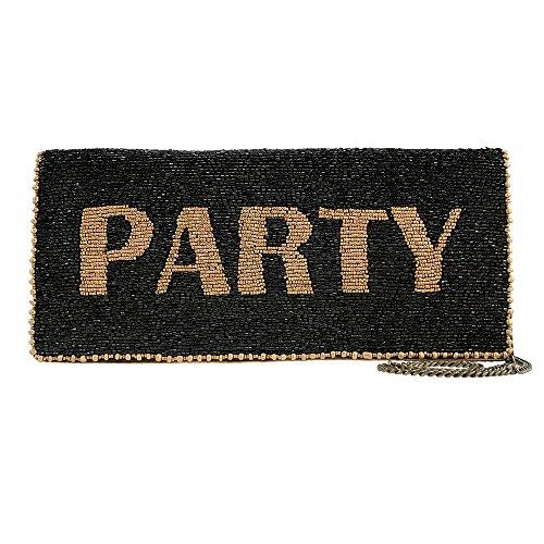 Mary Frances Party Clutch Black Bead Winter 16 Beaded Bag Eve Purse Handbag NEW