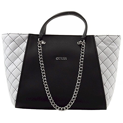 Guess Women's Nikki Black Multi Chain Tote Handbag