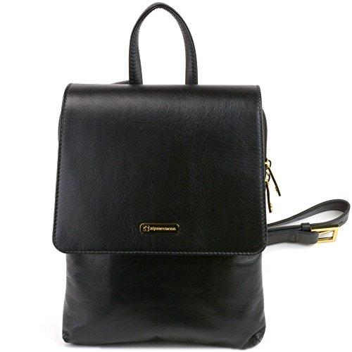 Alpine Swiss Gila Womens Backpack Purse Organizer Handbag Midsize Verona Leather