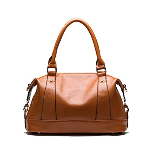 Cczimo Women's Soft Leather Casual Top Handle Tote Messenger Shoulder Satchel Handbag Crossbody Purses