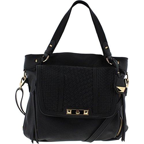 Jessica Simpson Womens Jenna Faux Leather Flap Tote Handbag