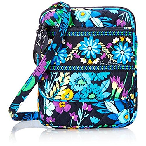 Vera Bradley Womens Floral Print Quilted Crossbody Handbag