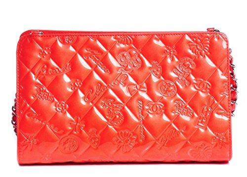 CHANEL Handbag Lucky Symbols Coral Leather Purse
