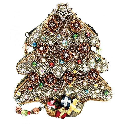 Mary Frances Sugar Plum Beaded Jeweled Santa Christmas Holiday Tree Handbag Shoulder Bag
