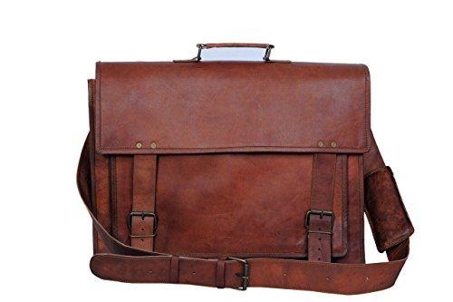 Komal's Passion Leather Handmade Laptop Messenger 14″ Satchel Bag