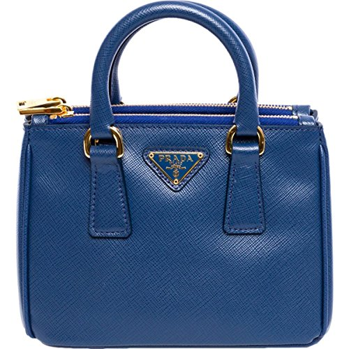 Prada Womens Saffiano Mini Galleria Leather Convertible Crossbody Handbag