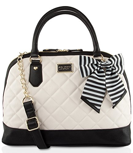 Betsey Johnson Large Quilted Dome Satchel Bag