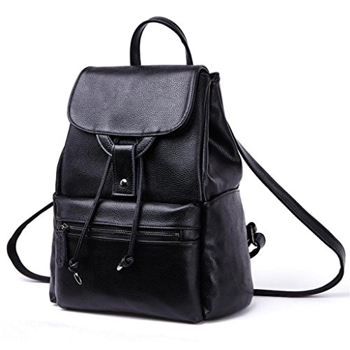 Tom Clovers Casual Women Real Genuine Leather Backpack Fashion Shoolbag Camping Bag Shoulder Bag