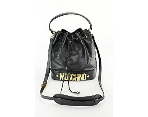 Moschino Couture Womens Bucket Bag Women Drawstring Satchel Black Satchel Black