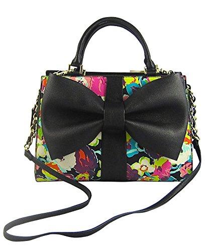 Betsey Johnson Curtsy Floral Satchel Handbag