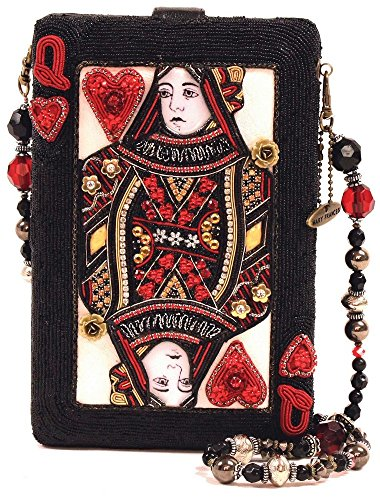 Mary Frances Lucky Lady Queen of Hearts Card Beaded Jeweled Handbag Shoulder Bag