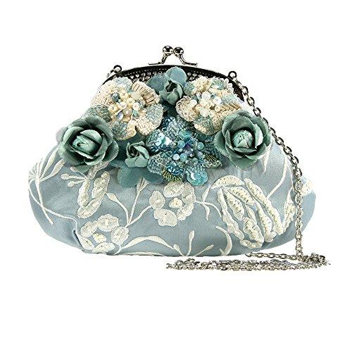 Mary Frances Don't Be Blue Mini Handbag