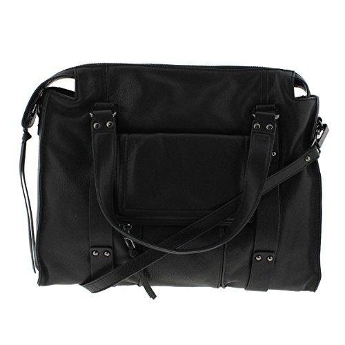 Kooba Womens Rhodes Leather Studded Satchel Handbag