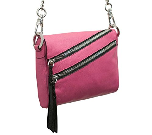 orYANY Skyler Italian Leather Crossbody – Magenta