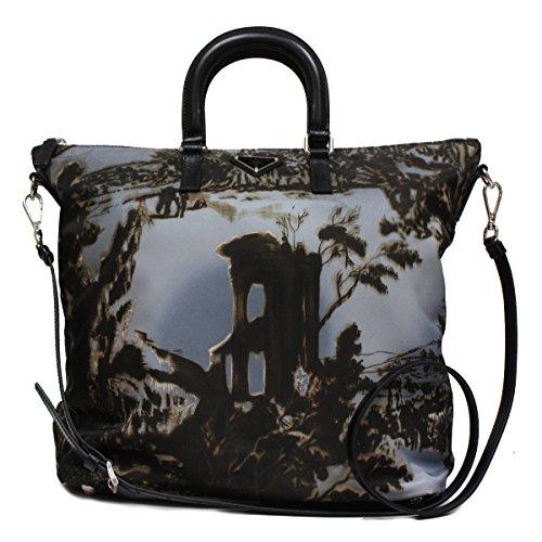 Prada Limited Edition Floral Print Nylon Shopping Tote Shoulder Bag BN2881