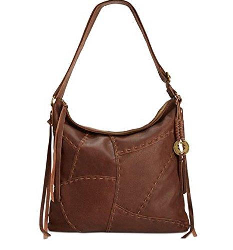 Lucky Brand Dylan Patchwork Leather Brandy LB2192 Hobo Handbag