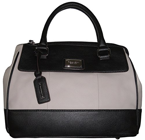 Tignanello Women's Genuine Leather *Social Status* Satchel, Dove Grey/Black