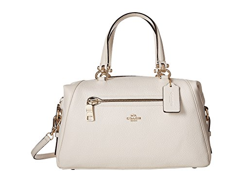 COACH Women's Pebbled Primrose Satchel LI/Chalk Satchel