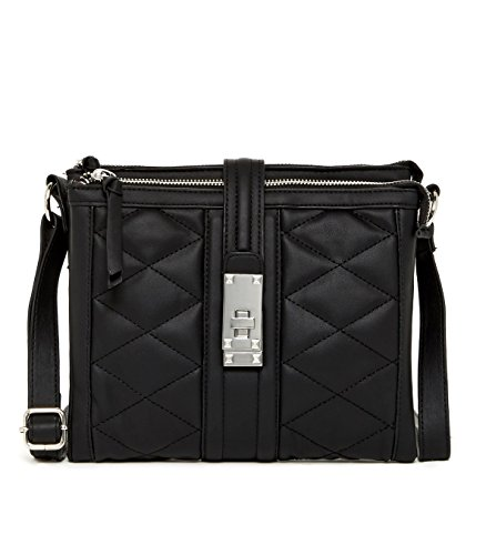 Jessica Simpson Vivian Quilted Crossbody Bag, Black