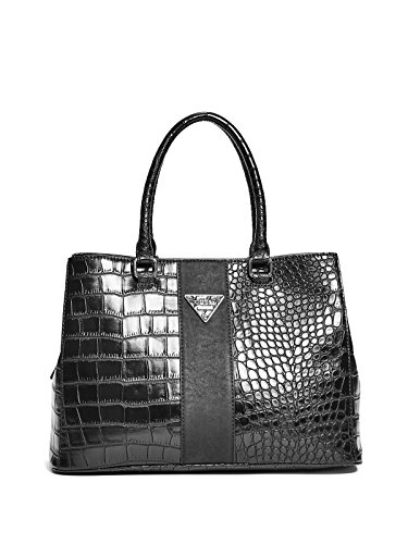 GUESS Women's Camp Croc-Embossed Girlfriend Satchel