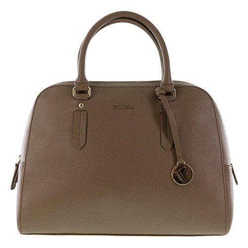 Furla ELENA Saffiano Leather Satchel Shoulder Hand Bag (Danio.)