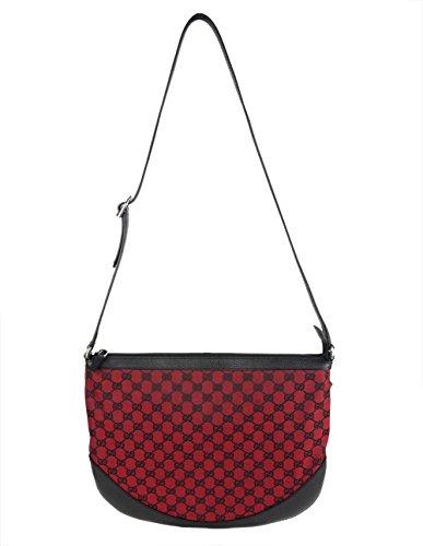 Gucci Bag 272380 GG Logo Monogram Canvas Red Black Messenger Purse