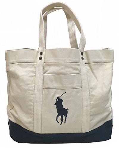 Polo Ralph Lauren Canvas Tote Bag (Off-White)