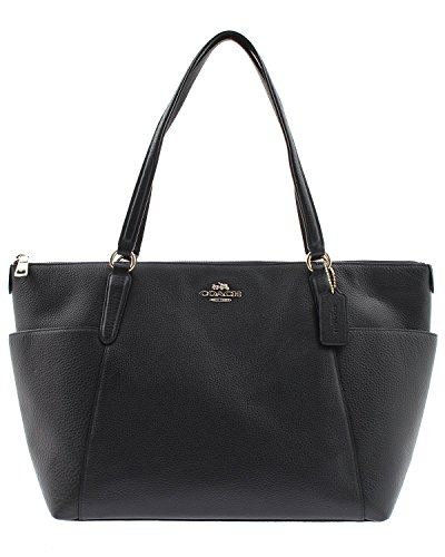 Coach Pebble Leather Ava II Tote – Midnight
