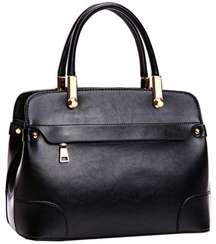 Heshe® New Fashion Western Style Women Shoulder Bag Tote Top Handle Tote Cross Body Bag Satchel Purse Handbag Simple Style