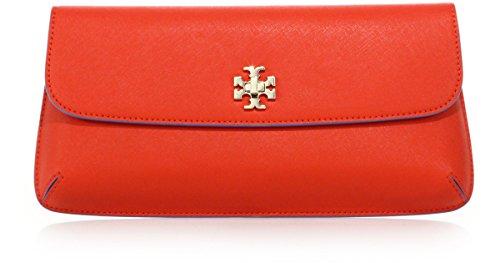 Tory burch diana clutch Women Leather Bag Poppy Red