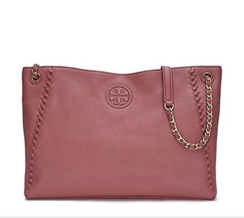 Tory Burch Marion Chain-Shoulder Slouchy Tote in Maple Sugar