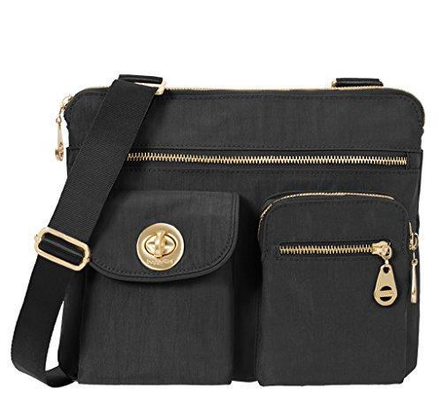 Baggallini Women's Sydney Gold Canvas Handbags