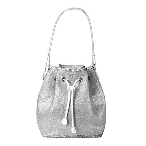 Eric Javits Designer – Luxury Women's Ava Handbag (Silver)