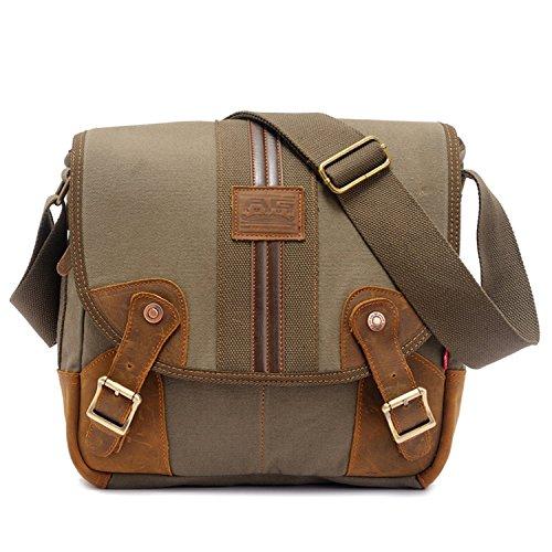 ILISHOP Women's Vintage Canvas Travel Shoulder Messenger Cross-body Handbags (Armygreen)