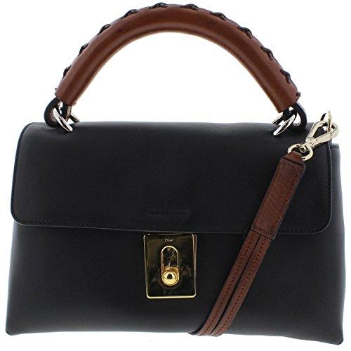 Chloe Womens Leather Flap Satchel Handbag